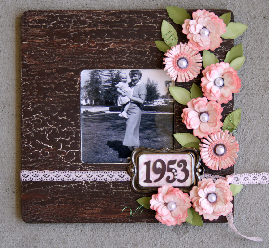 Antiqued Quilled Flower Photo Frame | Mixology Crafts