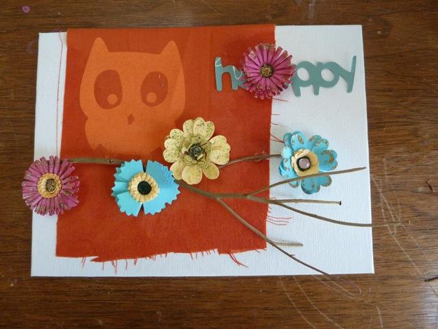 Collage art using the cricut yudu and cuttlebug for Www cuttlebug crafts com