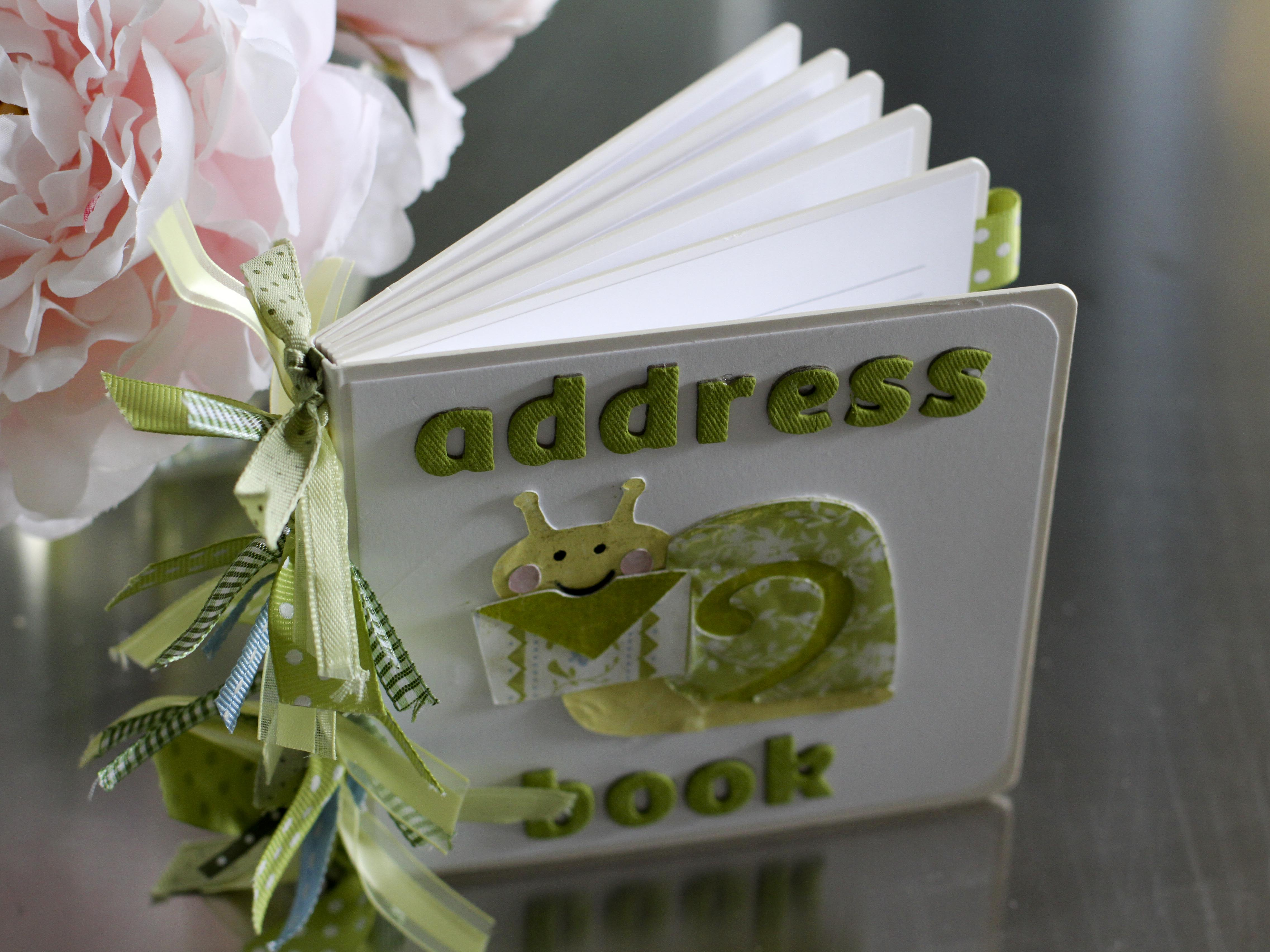 cute address book mixology crafts