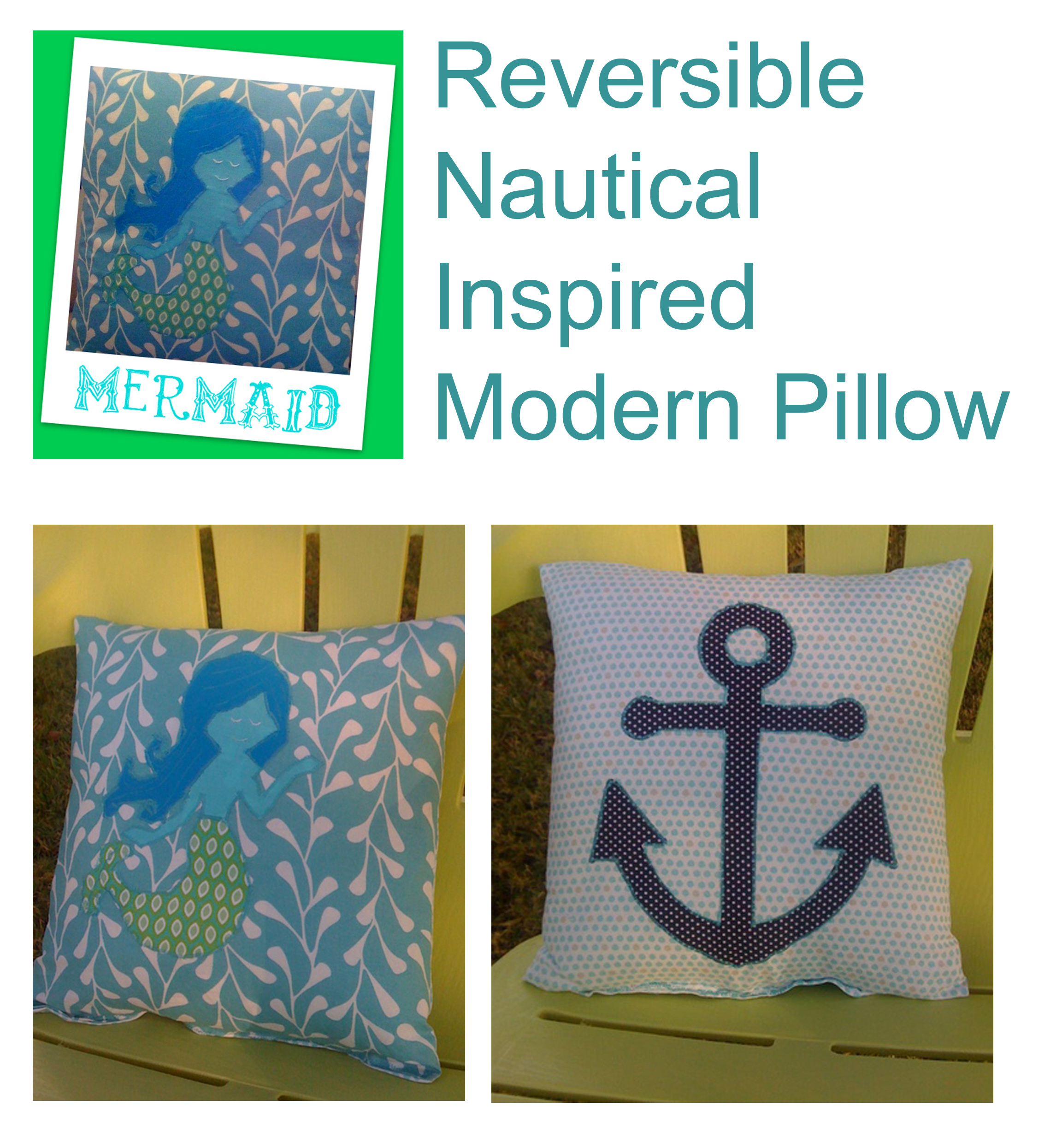 nautical modern pillow sewing project