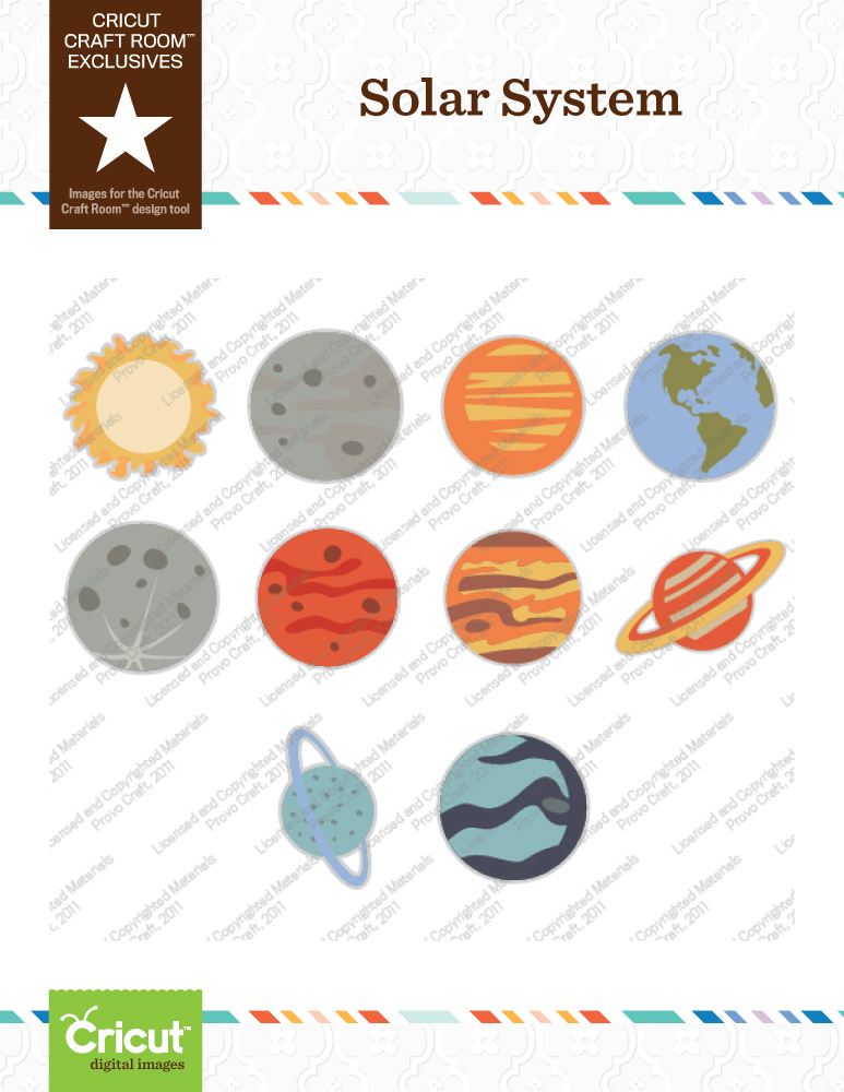solar system mobile cutouts printable - photo #23