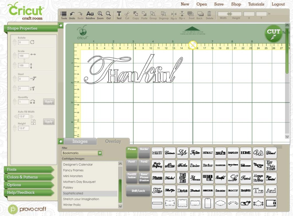 Free Cricut Craft Room: Cricut Craft Room And Linking Your Cartridges